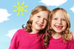 Twin girls Royalty Free Stock Photo