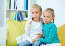 Twin girls Stock Photography