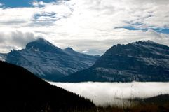 Twin Glaciers at Glacier National Park Royalty Free Stock Photography