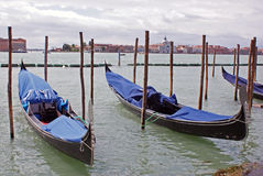 Twin gondola in venice stock images