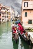 Twin gondolas Royalty Free Stock Image