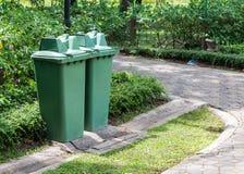 Twin green bin Stock Photos