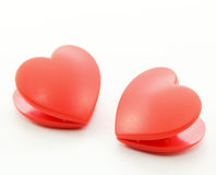 Twin heart on white background Royalty Free Stock Photo