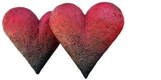 Twin hearts Royalty Free Stock Images