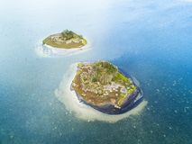 Twin Islands in blue waters Royalty Free Stock Photos