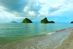 Twin Islands off Krabi's Coast at a beach named, Stock Images