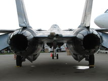 Twin Jet Engine. Fighter jet with twin engines Stock Photos