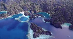 Twin Lagoon in Coron, Philippines. Beautiful Landscape with Nature, Sulu Sea, stock video