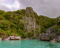 Twin Lagoon Entrance, Coron island. Palawan - Philippines Stock Photography