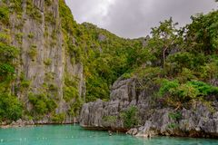 Twin Lagoon Entrance, Coron island. Palawan - Philippines Stock Image