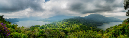 Twin lake in Bali Royalty Free Stock Images
