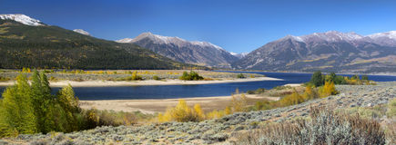 Twin lakes Stock Photo