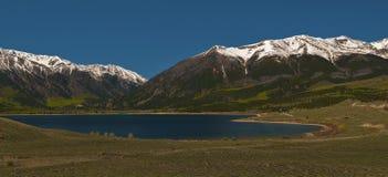 Twin Lakes Colorado. Horizontal Panoramic Shot of Twin Lakes Colorado Royalty Free Stock Photo