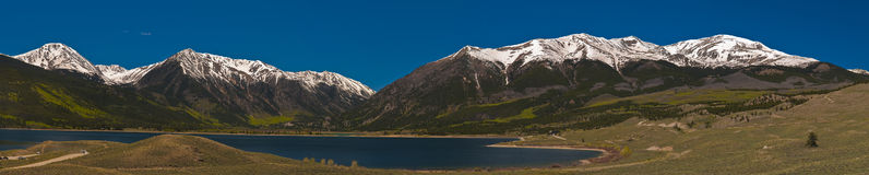 Twin Lakes Colorado. Horizontal Shot of Twin Lakes Colorado royalty free stock photography