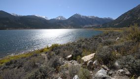 Twin Lakes Colorado Sunny Day stock video footage