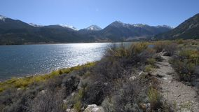 Twin Lakes Colorado Sunny Day stock footage
