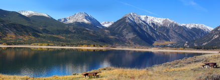 Twin lakes recreation area Stock Photos