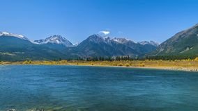 Twin Lakes on a Sunny Day Time-lapse 4k Uhd. Twin Lakes - Lake County near Leadville Colorado Landscape stock footage