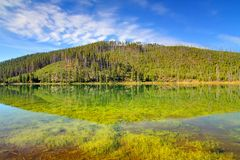 Twin Lakes In Yellowstone Royalty Free Stock Photos