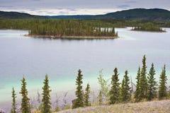 Twin Lakes, Yukon Territory, Canada. Twin Lakes in central Yukon Territory, Canada Royalty Free Stock Images