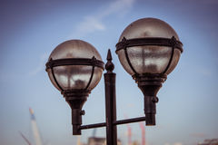 Twin lamp heads Stock Images