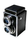 Twin lens camera. Isolated image of a Vintage camera Stock Image
