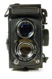 Twin Lens Reflex. Older twin-lens reflex camera Royalty Free Stock Image