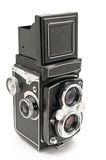 Twin lens reflex. Old twin lens reflex camera isolated on white background Stock Photography