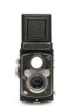 Twin lens reflex. Old twin lens reflex camera isolated on white background Royalty Free Stock Photography