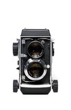 Twin lens reflex camera. Isolated Royalty Free Stock Photography