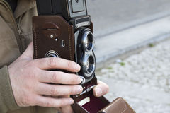 Twin lens reflex camera Royalty Free Stock Image