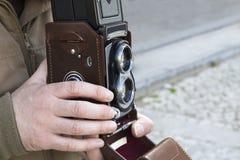 Twin lens reflex camera. Vintage Twin lens reflex camera Royalty Free Stock Image