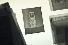 The Twin-lens reflex camera on negative material. Twin-lens reflex camera on negative material Royalty Free Stock Photo