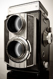 A twin-lens reflex camera (TLR) Royalty Free Stock Photo