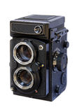Twin Lens Reflex Camera on White Stock Images