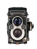 Twin lens reflex phot camera. Twin lens reflex photo camera on white Royalty Free Stock Images
