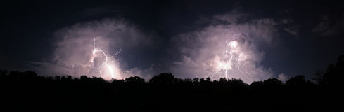 Twin Lightning Bolts Stock Images