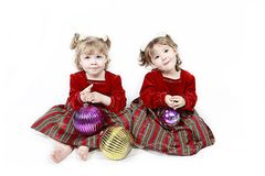 Twin little girls Royalty Free Stock Photography