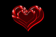 Twin love hearts stock photos