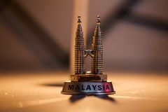 Twin Malysia towers. Twin towers in small version Royalty Free Stock Photos