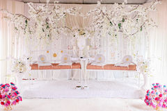 Twin marriage dais for two wedding couples Stock Photography