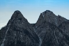 twin-mountain-crests Stock Image