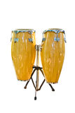 Twin music drum isolated Royalty Free Stock Images