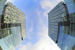 Twin office building towers Stock Photography