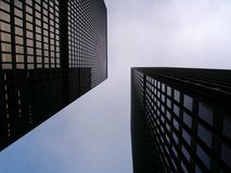 Twin Office Towers royalty free stock photography