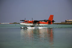 Twin Otter Seaplane royalty free stock photos