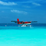 Twin otter seaplane at Maldives Stock Photography