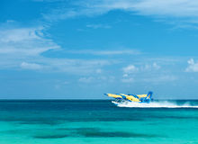 Twin otter seaplane at Maldives Royalty Free Stock Photo