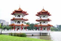 Twin pagoda Royalty Free Stock Image