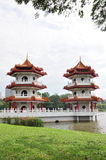 Twin pagoda Royalty Free Stock Photos